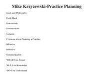 Mike Krzyzewski Duke Practice Planning Notes