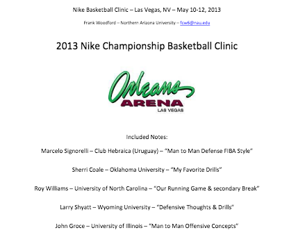 Basketball Coaching Clinic Notes | 2013 Nike Las Vegas Basketball Clinic