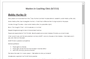 Bobby Hurley Sr notes