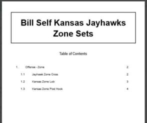 Bill Self Kansas Jayhawks Zone Sets