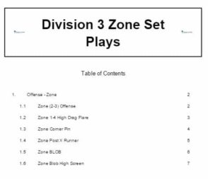 Division 3 Zone Set Plays