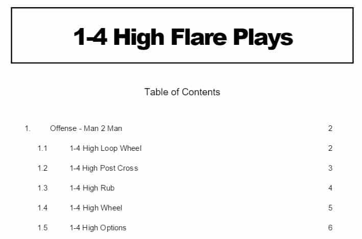 1-4 High Flare Plays by Wes Kosel