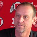 Larry Krystkowiak Utah Utes Dribble Drag Double Action by Dana Beszczynski