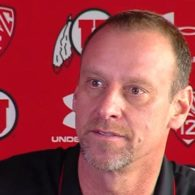 Larry Krystkowiak Utah Utes Dribble Drag Double Action by Dana Beszczynski
