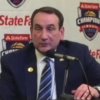 Mike Krzyzewski Duke Blue Devils Early Offense Action