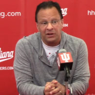 Tom Crean Indiana Hoosiers Post Rub Isolation Play by Dana Beszczynski