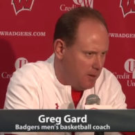 Greg Gard Wisconsin Badgers Double Stagger Action