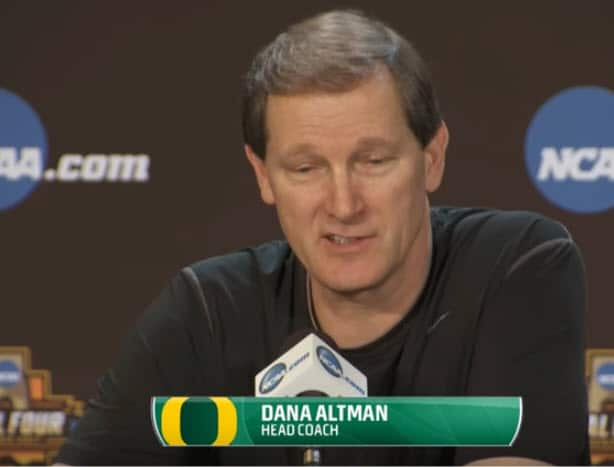 Dana Altman Oregon Ducks Half Court Man Offense