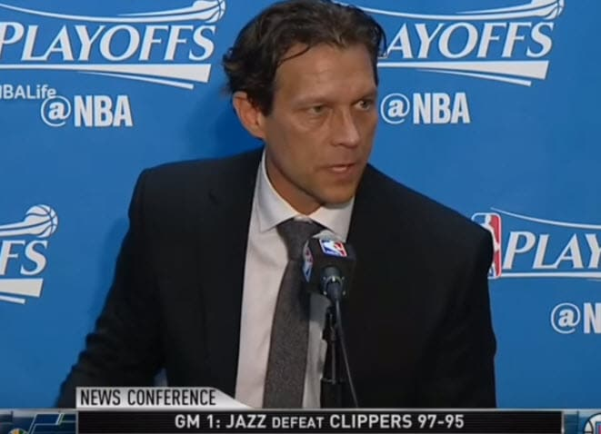 Quin Snyder NBA Utah Jazz Defense