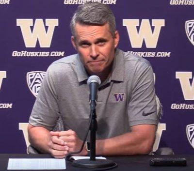 Washington Huskies Football Coach Chris Petersen