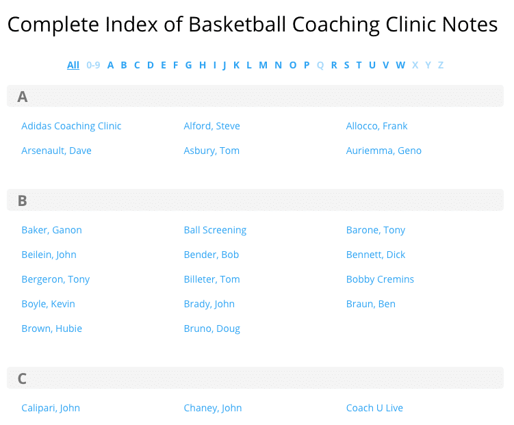 Basketball Coaching Clinic Notes