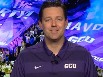 Bryce Drew-Grand Canyon University:  Faces in New Places by Chris Filios